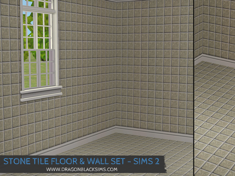 Stone Tile Wall & Floor Set - Part 2 - Sims 2 Walls & Flooring ...