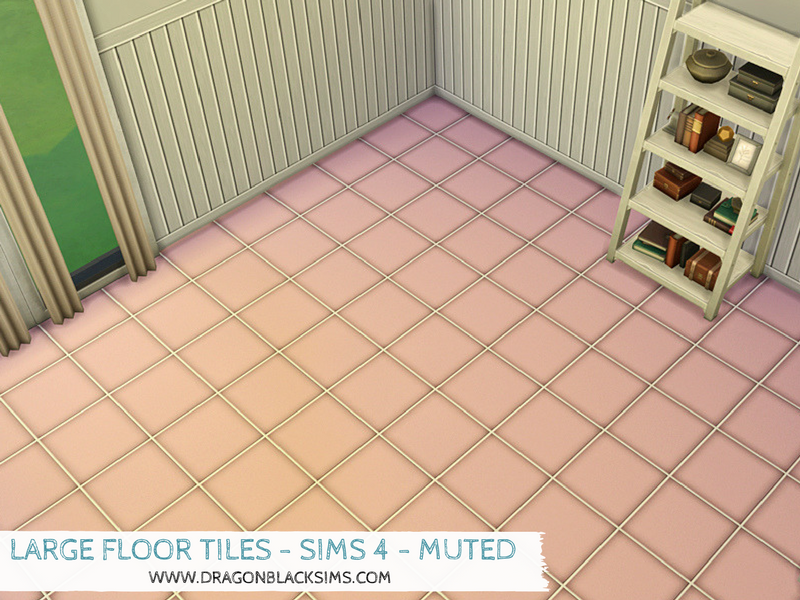 large floor tiles - muted
